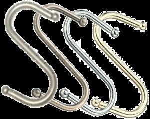 S-крючок с Шариком на рейлинг (трубу) d=16мм.
