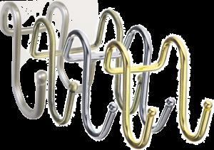 Сдвоенный крючок на рейлинг (трубу) d=16мм.