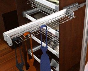 Вешалка выдвижная для галстуков и ремней для шкафа